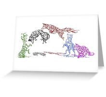 The Pounce (leaping foxes in the snow) Greeting Card