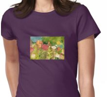 Flower Terrain Womens Fitted T-Shirt