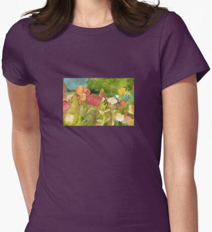 Flower Terrain Womens Fitted T-Shirt