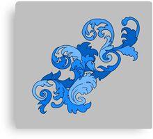 Shades of blue filigree Canvas Print