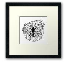 Bee Fruit Framed Print