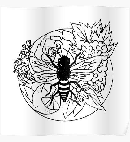Bee Fruit Poster