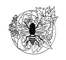 Bee Fruit Photographic Print