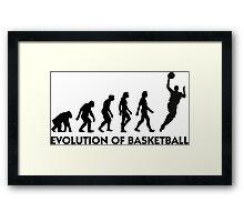 The Evolution of Basketball Framed Print