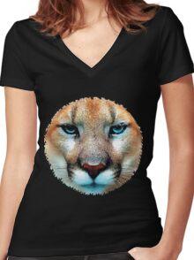 Cougar, puma, jaguar Women's Fitted V-Neck T-Shirt
