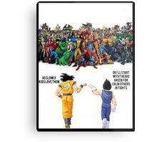 DBZ | Super heroes  Metal Print