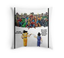 DBZ | Super heroes  Throw Pillow
