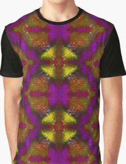 Kaleidoscope Dreams - Yellow/Purple Graphic T-Shirt