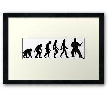The Evolution of Judo Framed Print
