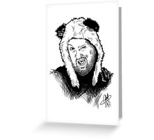 Pandahat Greeting Card