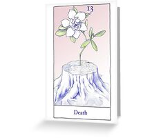 The Death Card from the BirdQueen Tarot Greeting Card