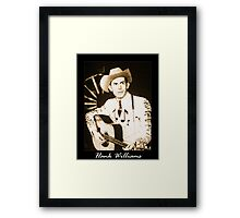 Hank Williams & His Guitar Framed Print