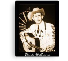 Hank Williams & His Guitar Canvas Print