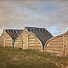 Holy Island's new boat sheds by Woodie