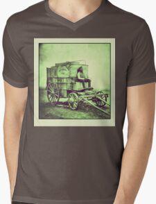 Antique photo Wild West Photographer and his van Mens V-Neck T-Shirt