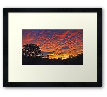 """Burning Sky"" Framed Print"
