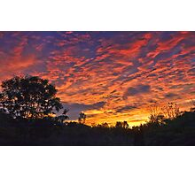 """Burning Sky"" Photographic Print"