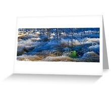 The first hoar Frost Greeting Card