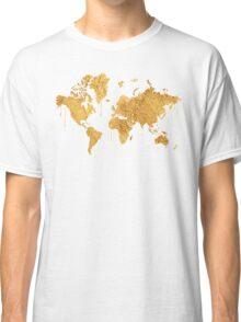 Gold World Map Classic T-Shirt
