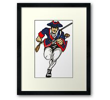 Red White and Blue Patriot Running Framed Print