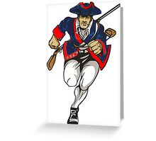 Red White and Blue Patriot Running Greeting Card