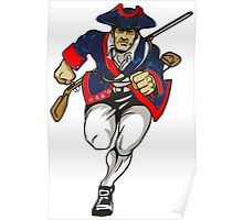 Red White and Blue Patriot Running Poster