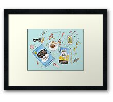 Messy desk Framed Print