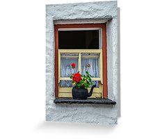 Traditional Cottage Window - Bunratty - County Clare - Ireland Greeting Card