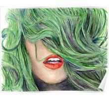 Green Haired Girl  Poster