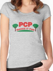 PCP Makes It Fun Leslie Knope Funny Design Women's Fitted Scoop T-Shirt