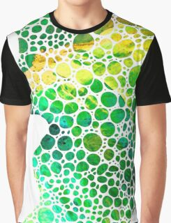 Green Abstract Art - Colorforms 4 - Sharon Cummings Graphic T-Shirt