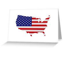 American Flag USA Map Greeting Card