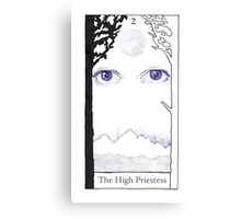 The High Priestess from The BirdQueen Tarot Canvas Print