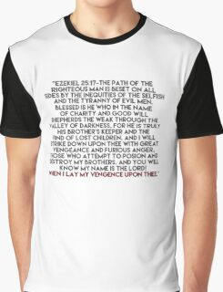 Ezekiel 25:17 Speech Graphic T-Shirt