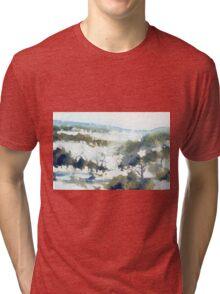 Perisher (watercolour) NSW Australia Tri-blend T-Shirt