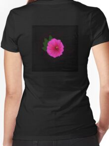Painted Flower Women's Fitted V-Neck T-Shirt
