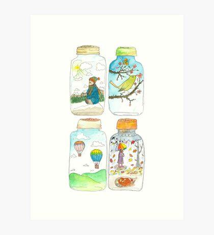 Season in the jar Art Print