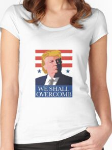 We Shall Over Comb Women's Fitted Scoop T-Shirt