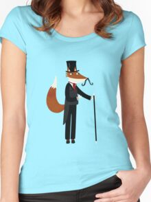 Mr Fox Takes a Stroll Women's Fitted Scoop T-Shirt