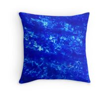 Abstract Blue 112M Throw Pillow