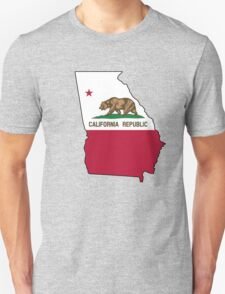 California flag Georgia outline Unisex T-Shirt