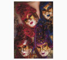 Venetian Masquerade Masks One Piece - Short Sleeve