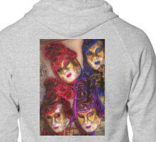 Venetian Masquerade Masks Zipped Hoodie