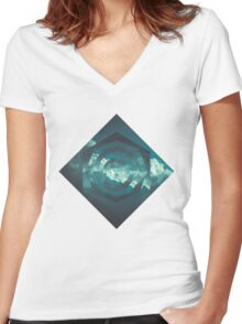 CERULEAN Women's Fitted V-Neck T-Shirt