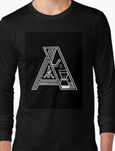 Letter A (coffee) Long Sleeve T-Shirt