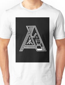 Letter A (coffee) Unisex T-Shirt