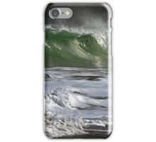 Silver Wave Green iPhone Case/Skin