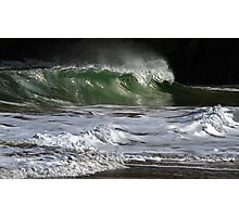 Silver Wave Green Photographic Print