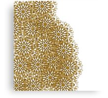 Abstract elegant gold white floral pattern Canvas Print