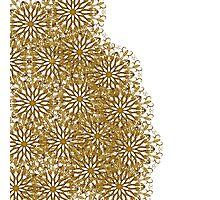 Abstract elegant gold white floral pattern Photographic Print
